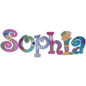 Sophia Lullaby Birds Hand Painted Wall Letters