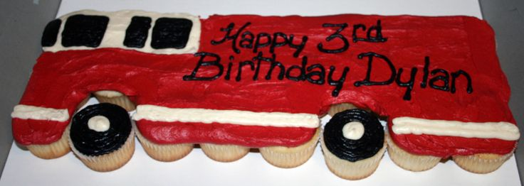 Fire-Truck-Cupcakes | Sweet Melissa Sue's Cakes