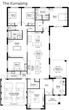 Today for my Floor Plan Friday post I have this one which features a modern kitchen, large scullery, drop zone and heaps more. It's a 4 bedroom home with the Master bedroom on the back. Some people love that layout! I don't mind this plan. It's got good formation at the font – keeping the study and …