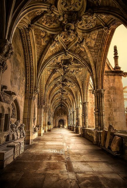 The gothic cloister of Cathedral de Leon, Spain, from Iryna