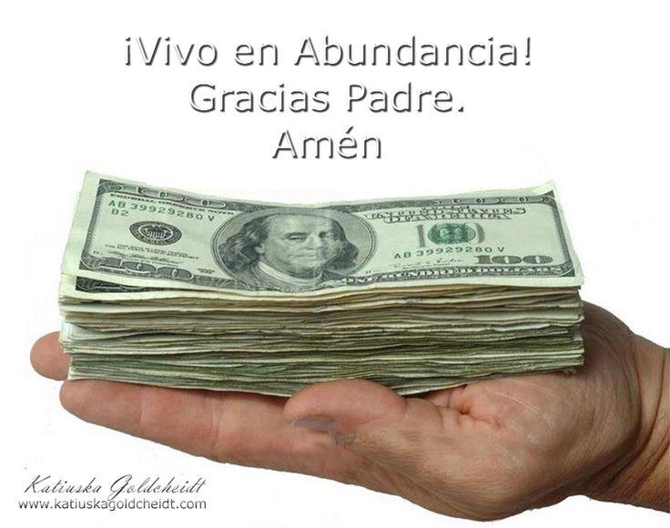 VIVO EN ABUNDANCIA. En mis manos VIVE La Abundancia. Vivo en Prosperidad, Soy dichoso en mi hogar porque nada falta.  http://decretosyafirmaciones.com/vivo-en-abundancia/