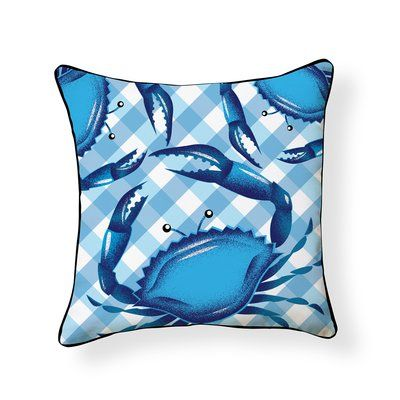 Rosecliff Heights Osbourne Crab Outdoor Throw Pillow