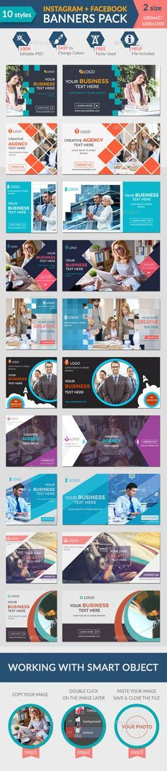 Facebook + Instagram Banners Pack Template - Download Here : http://graphicriver.net/item/facebook-instagram-banners-pack/13425313?s_rank=2&ref=yinkira