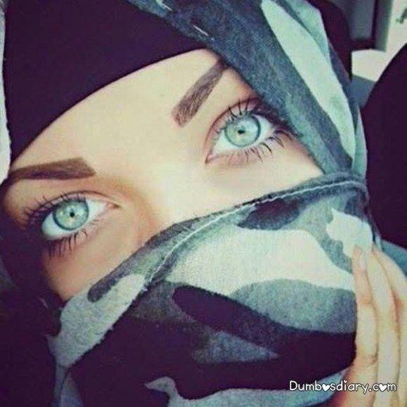Pretty Green Eyes Beautiful Muslimah In Hijab