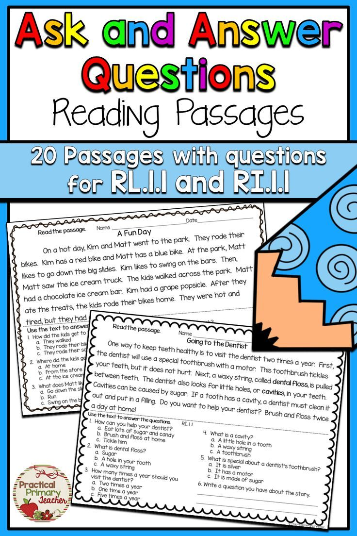 Ask And Answer Questions 1st Grade Reading Passages And Questions For Rl 1 1 And Ri 1 1 Reading Passages Teaching Reading Comprehension First Grade Reading [ 1104 x 736 Pixel ]