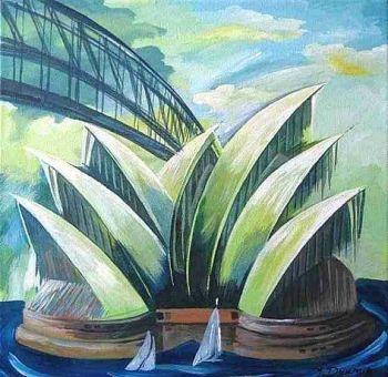 SIGNED ORIGINAL PAINTING ARTWORK - SYDNEY AUSTRALIA Artist: Dyumin, Yelena Artwork title: Sydney Harbour Price: $270