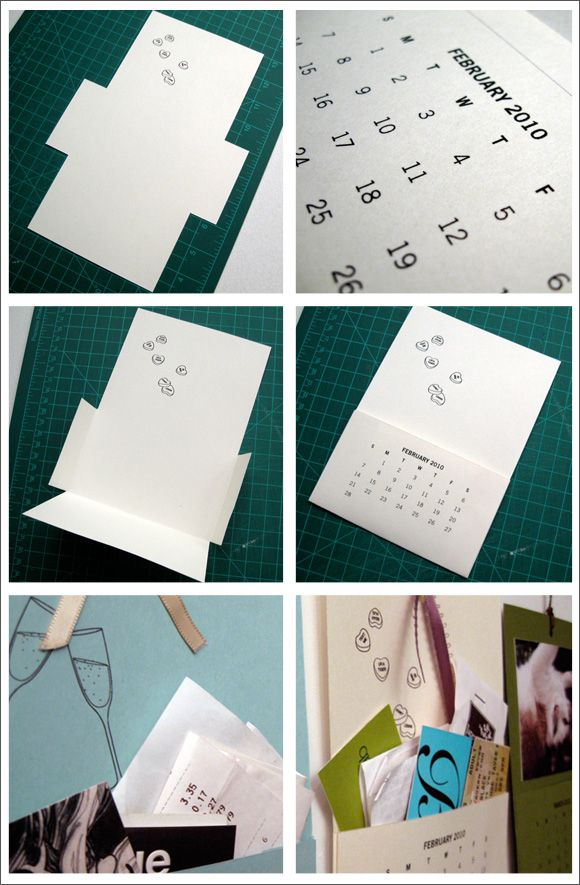 Printable 2010 Pocket Calendar by Sam & Cheryl | Creature Comforts