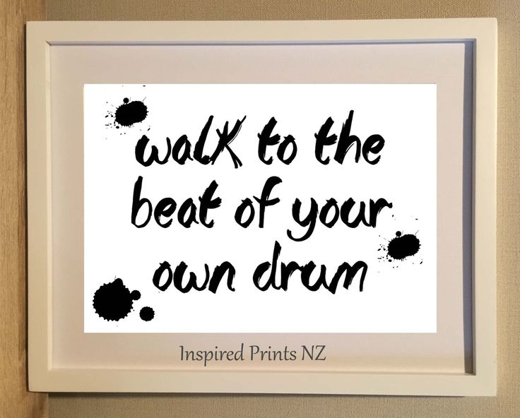 A4 Print Walk to the beat by InspiredPrintsNZ on Etsy