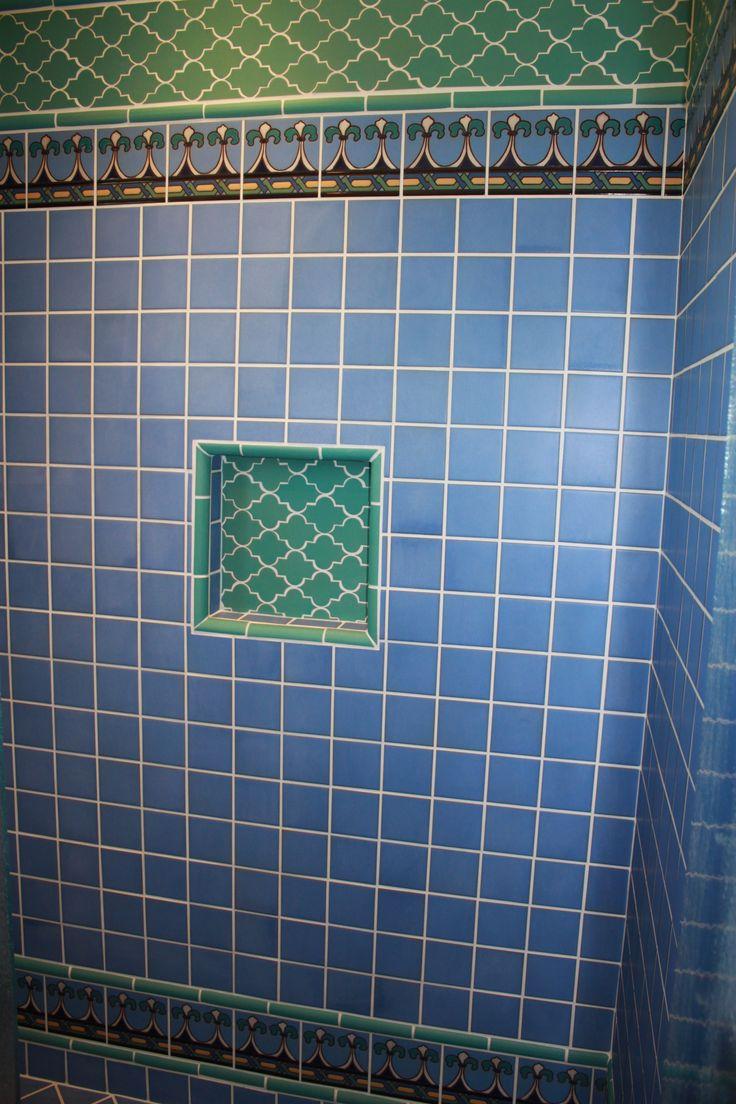 12 best Bathroom Deco Tiles images on Pinterest | Spanish tile, Hand ...