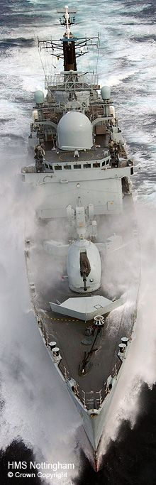 HMS Nottingham Type 42 destroyer  ©Crown Copyright http://www.savetheroyalnavy.org/wordpress/reflecting-on-the-life-and-times-of-the-type-42-destroyers    Reflecting on the life and times of the Type 42 destroyers