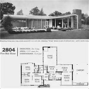 mid century house plans yahoo image search results