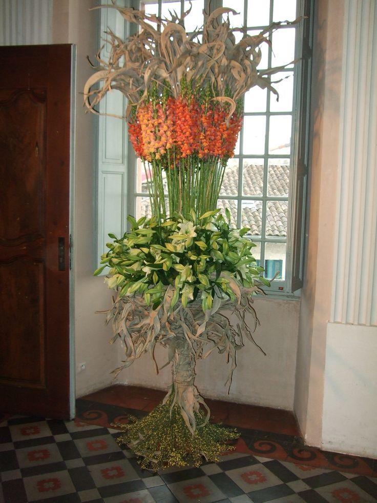 Composition florale pour le château de Cagnes Sur Mer