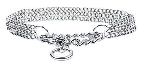Triple Choker Chain Dog Collar All breeds Silver Metal Chrome FREE POSTAGE | eBay