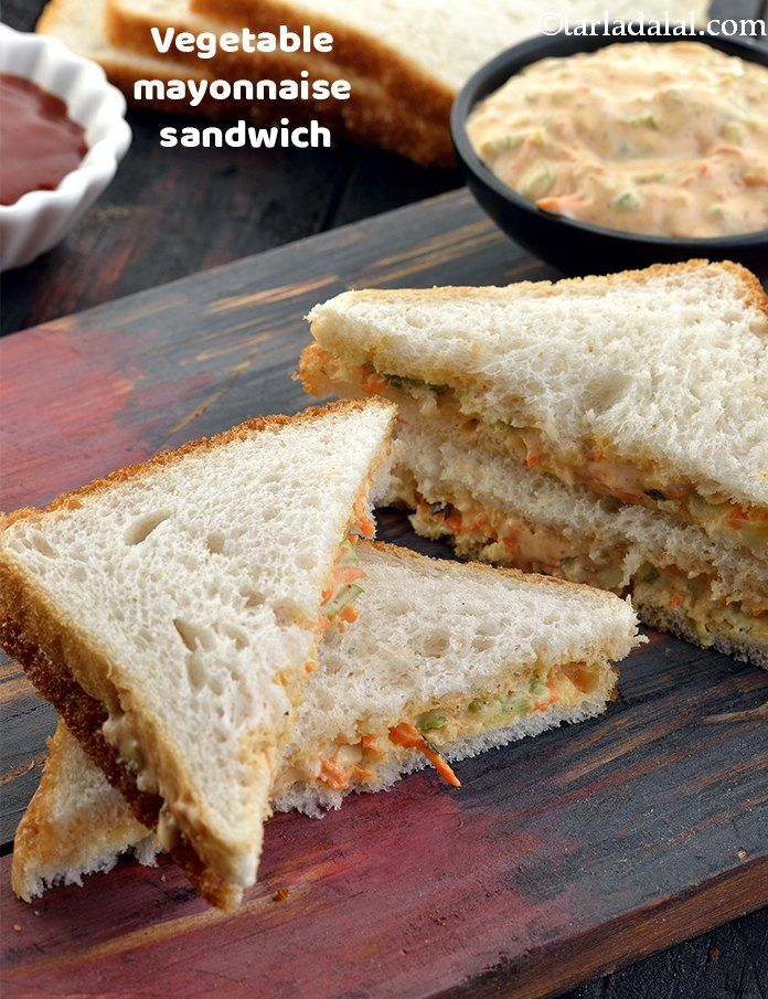 Vegetable Mayonnaise Sandwich Recipe How To Make Veg Mayo Sandwich Recipe Recipe Mayonnaise Sandwich Recipes Sandwiches