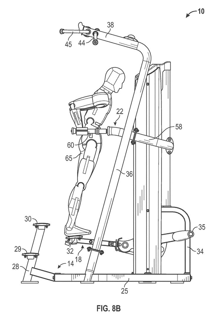 Patente US20120329626 - Assisted chin/dip exercise apparatus with adjustable chin-up/pull-up handles