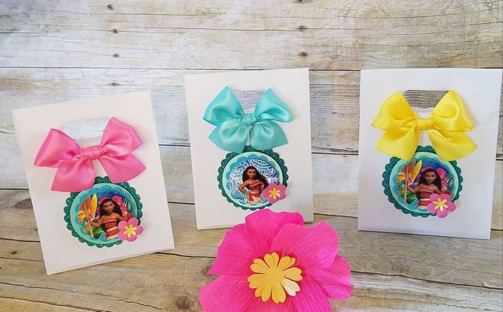 Moana (inspired)  favor bags ,Princess Moana (inspired) party favors,  (This Price Is For a single Bag) by HeidiPartyCreations on Etsy