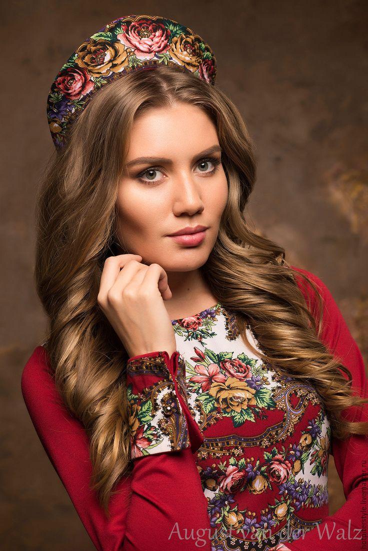 Купить Кокошник в Русском стиле. - цветочный, платье из платка, макси платье, модное платье