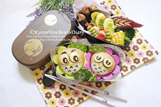 Karenwee's Bento Diary: Bento#Aug26~Owl Inari Bento