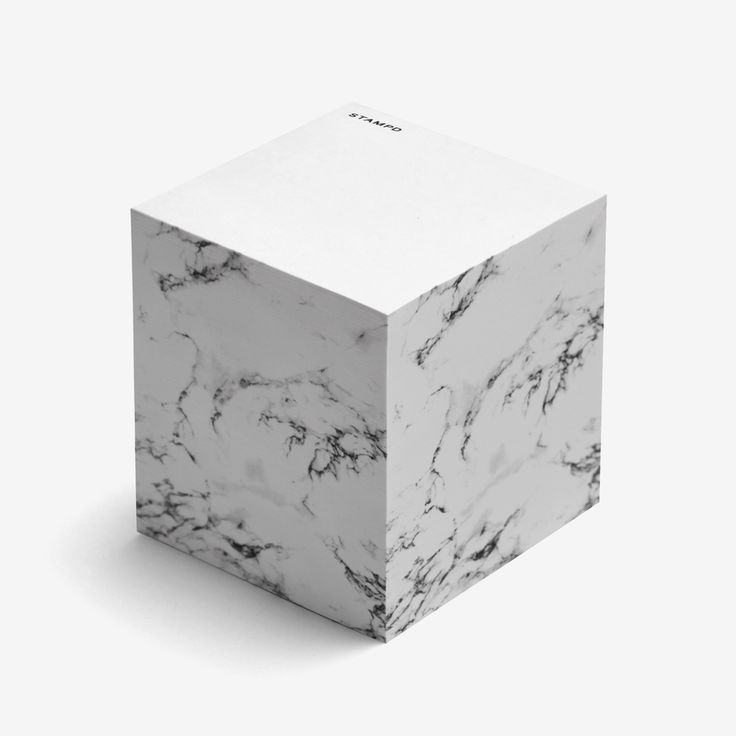 3M Post-It block with Stampd logo on each sheet, signature marble print on…