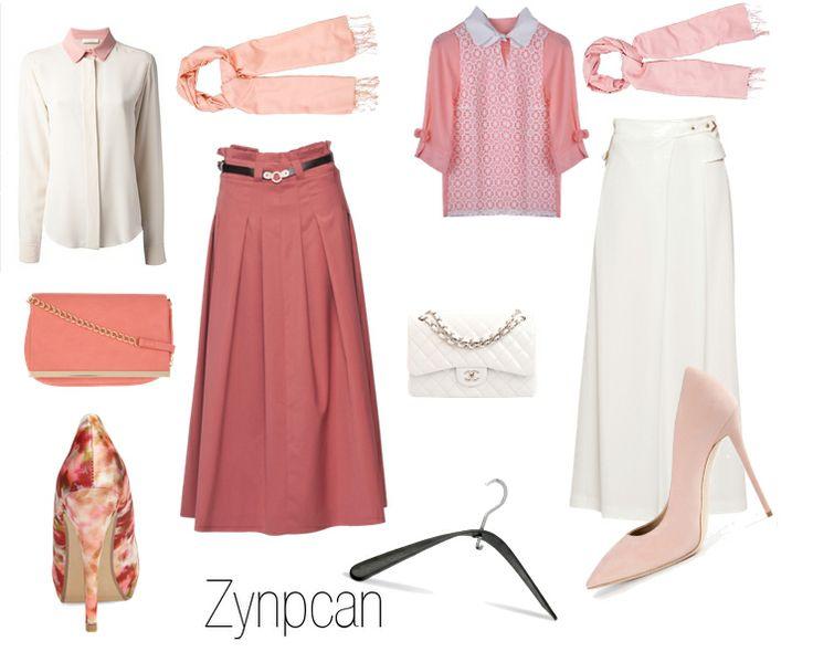 #blue #fashion #style #trend #color #turkuaz #mint #mavi #turkey #clothes #hijab #scarf #tesettur #soft #tone #color #pink #floral #white