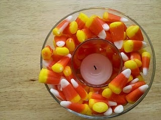Candy corn votive: Holiday, Decoration, Candy Corn, Decorating Ideas, Fall Decorating, Corn Candle, Halloween Ideas