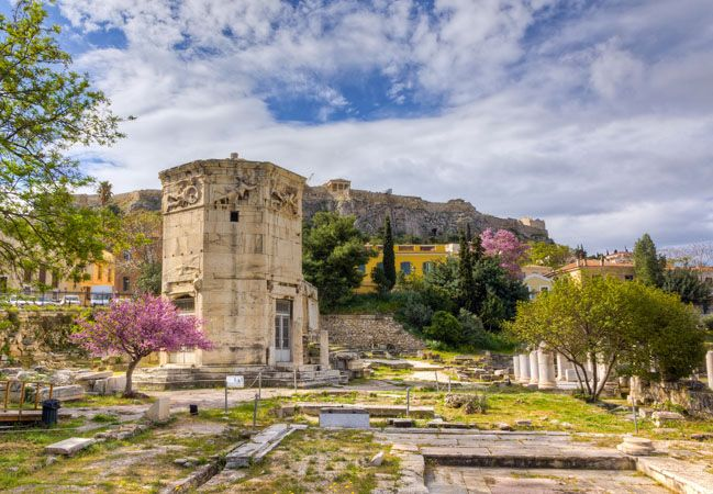 Roman Agora and the Clock tower of Kyristos | It could be characterized as the first trading center of antiquity and is a remnant of the Roman period of the city - Copyright © wondergreece.gr