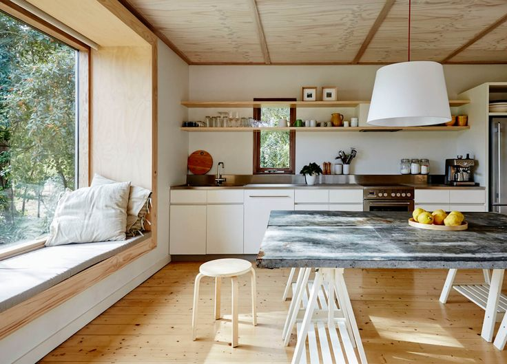 Kitchen | Shoreham Beach Shack by Sally Draper Architects | est living