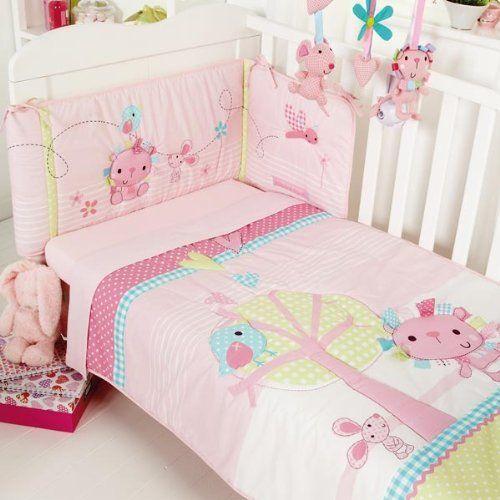 Clair de Lune Lottie & Squeek 2 Piece Cot Bed Quilt & Bumper Bedding Set, Pink, http://www.amazon.co.uk/dp/B0098KQKX4/ref=cm_sw_r_pi_awd_jmA4sb0DQ8M5V