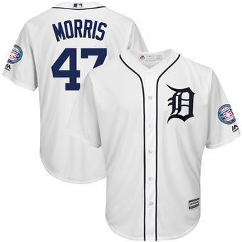 7c1820988fd Jack Morris Detroit Tigers Majestic Hall of Fame Induction Patch Cool Base  Jersey – White