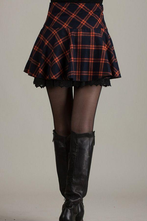 Bejeweled Plaid Pleated Skirt - OASAP.com