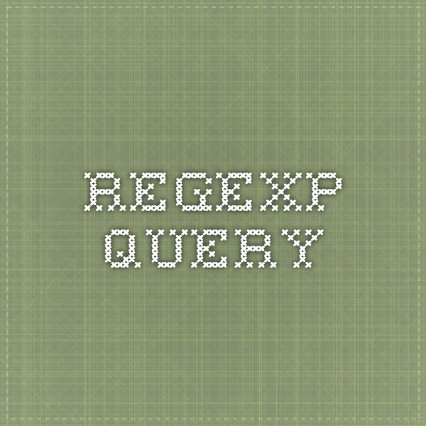 Regexp Query