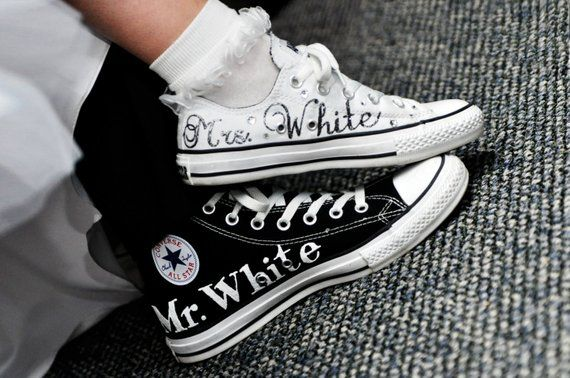 ac78089a6a2fd MADE TO ORDER - Bride & Groom Wedding Converse in 2019 | Products ...