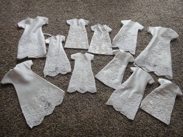 Beautiful Angel Gowns for NICU Helping Hands burial gowns for premies from donated wedding gowns