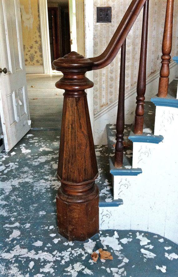 Mahogany Newel Post from Italianate/Victorian home in
