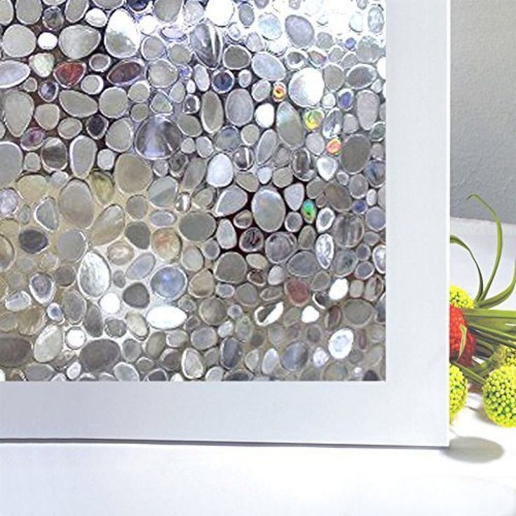 amazoncom bloss cobblestone embossed stained window film static cling film etched opaque privacy