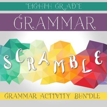 Practice eighth grade grammar standards with these interactive notebook pieces and grammar scrambles. The theme of…