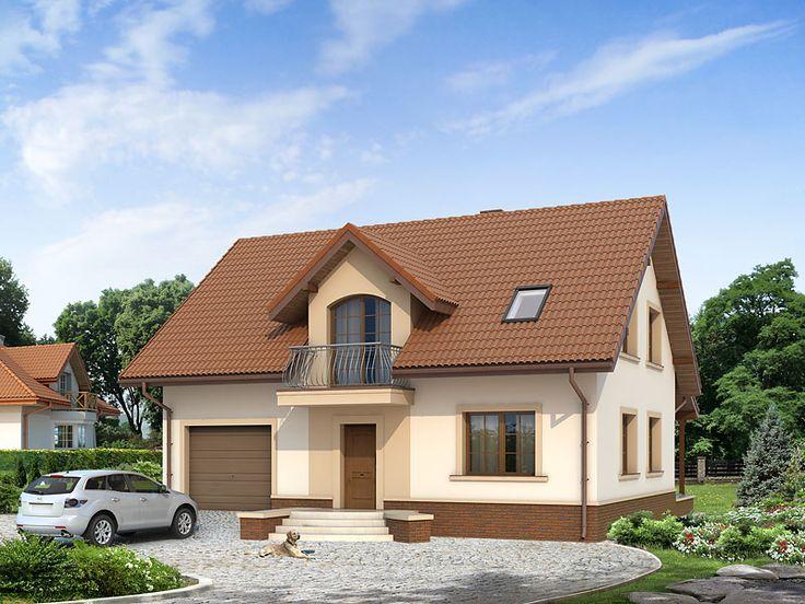 Projekt Arnika 2 (130,1 m2) to tradycyjny dom z użytkowym poddaszem. Pełna prezentacja projektu znajduje się na stronie: https://www.domywstylu.pl/projekt-domu-arnika_2.php. #arnika #projekty #projekt #gotowe #typowe #domy #domywstylu #mtmstyl #home #houses #architektura #interiors #insides #wnętrza #aranżacje
