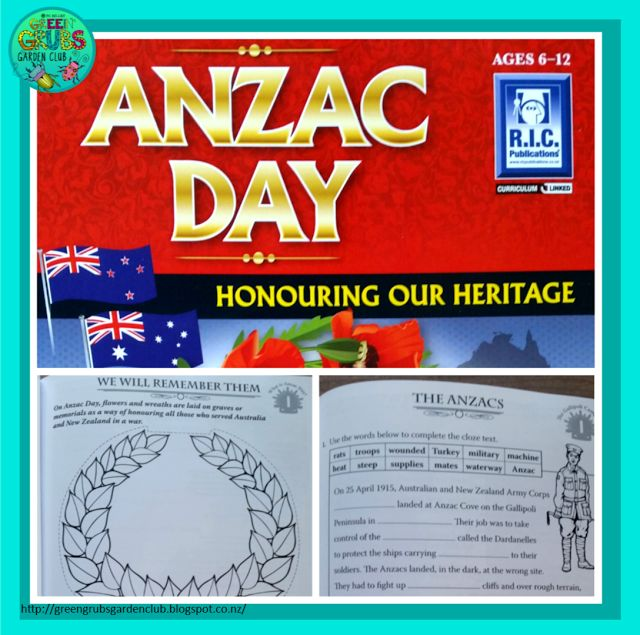 Anzac Day freebie - Blog review. Best Read Alouds for Anzac Day! { FREE Printable follow up activity sheets} by Green Grubs Garden Club