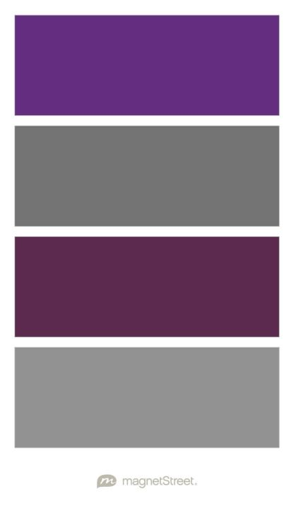 Plum Charcoal Eggplant And Classic Gray Wedding Color
