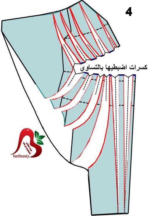 طلب مساعدة في تشريح فستان - اكاديمية بنت مفيد لتعليم الخياطة وتصميم الازياء  والمهارات Арабское платье интересное