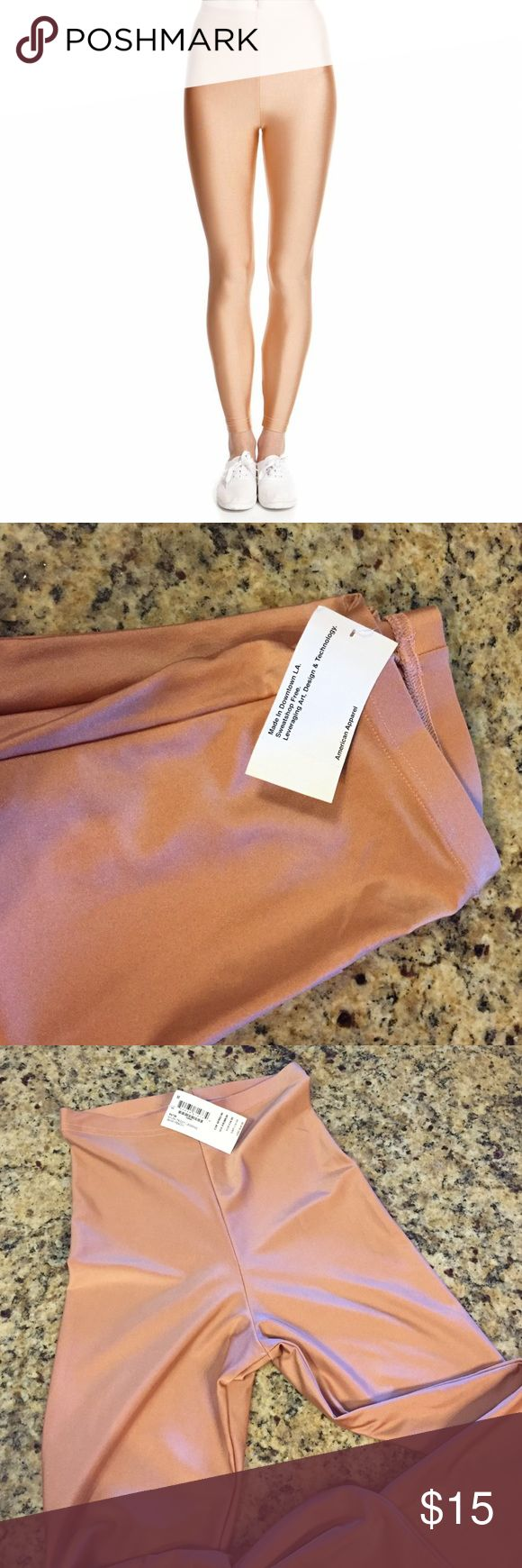 """American Apparel Nylon Tricot Legging ✨ unworn with tags ✨ comfortable and stretchy leggings in """"shiny peach"""" 🍑 American Apparel Pants Leggings"""