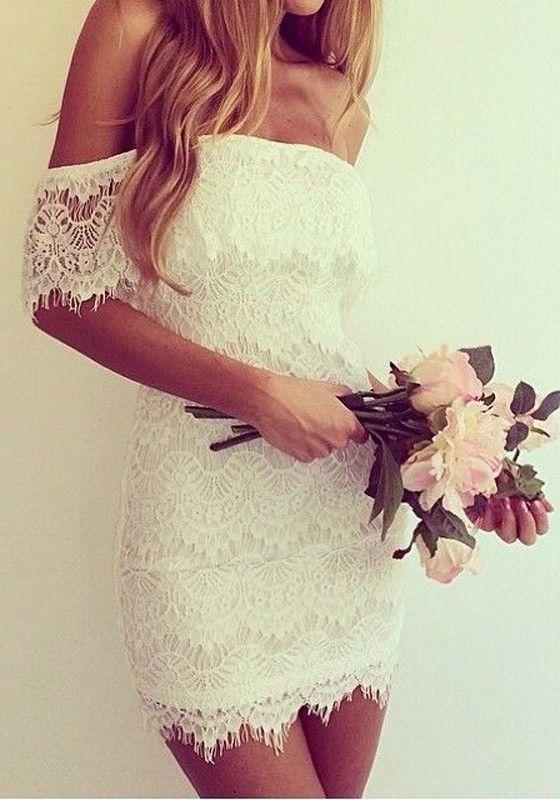 White Floral Bandeau Wavy Edge Boat Neck Sleeveless Dress - Mini Dresses - Dresses