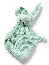 Lion Brand Bunny Blanket Buddy (Free Crochet Pattern)