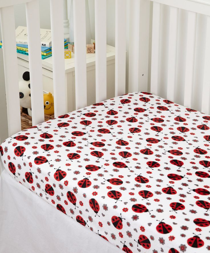 Look at this #zulilyfind! Lolly Gags Scarlet Ladybug Minky Crib Sheet by Lolly Gags #zulilyfinds