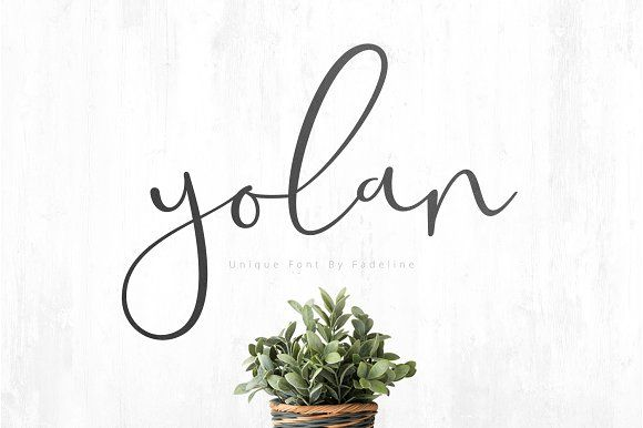 Yolan Unique Font by FadeLine on @creativemarket