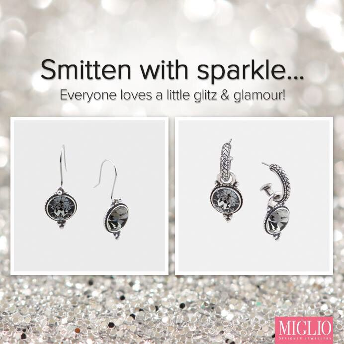 Versatile hoops can be worn on their own - just add charms to transform to the evening. www.miglio.co.uk/mandyholmes