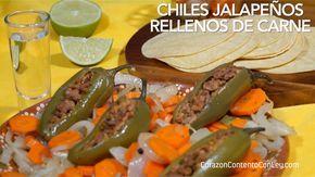 CHILES JALAPEÑOS RELLENOS DE CARNE – Corazón Contento Con Ley