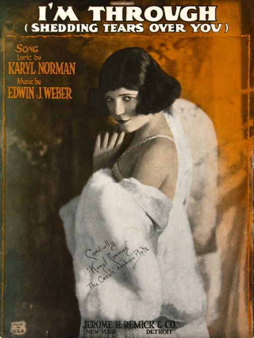 I'm Through (Shedding Tears Over You) (1922)