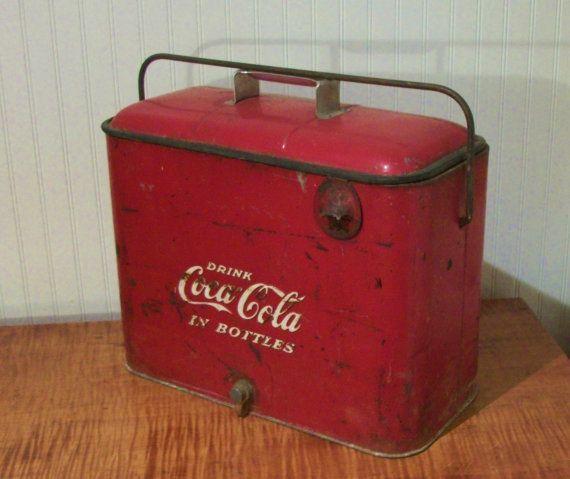 Vintage 1940s Or 1950s Coca Cola Picnic Cooler