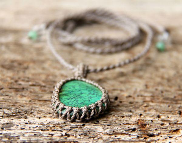Tyrkys v šedé | Pachamama - šperky a doplňky